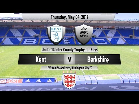 U14 Inter County Trophy Final for Boys: Kent Schools' FA v Berkshire Schools' FA