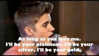 As long as you love me - Justin Bieber - Teen Awards 2012 (lyrics)