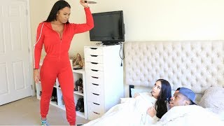CAUGHT IN THE BED WITH ANOTHER GIRL PRANK ON GIRLFRIEND (IT GOT VIOLENT)