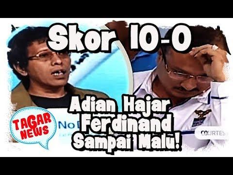 Skor Jokowi 10 0, Adian Napitupulu Bikin Ferdinand Hutahaean Tertunduk Galau!