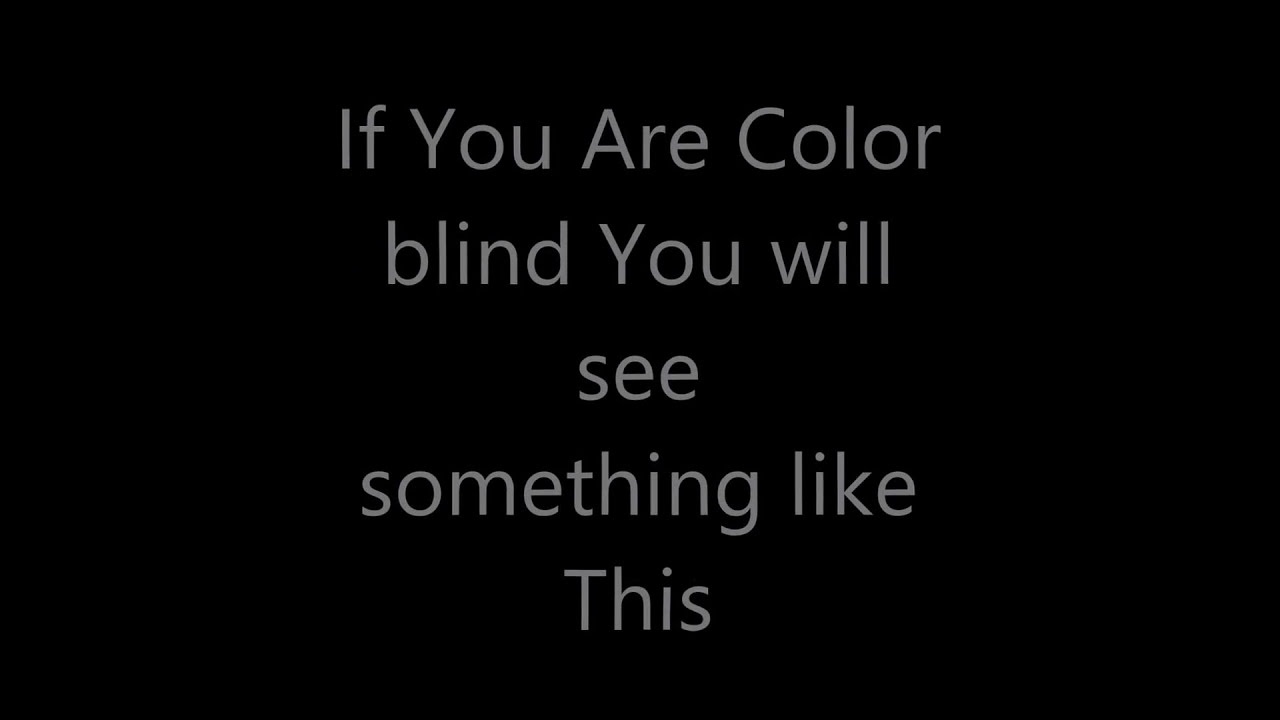 Test if you are color blind - YouTube
