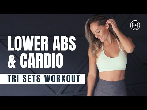 Lower Abs + Cardio // Tri Sets Workout (No Equipment)