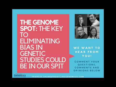 Webinar panel: The Key to Eliminating Bias in Genetic Studies Could be in Our Spit