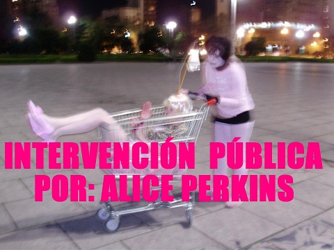 Intervención pública/acción artística por Alice Perkins