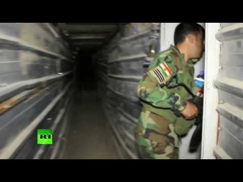 Inside ISIS underground tunnels and bunkers in Mosul area