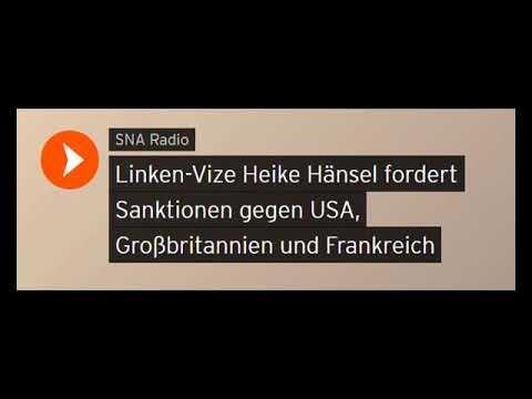 Linken-VizeHänsel fordert Sanktionen gegen USA, Großbritannien & Frankreich (Sputniknews)