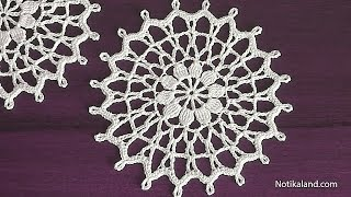 CROCHET Doily Tutorial for beginners How to crochet