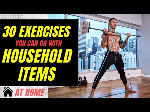 30 Exercises You Can Do At Home With Household Items