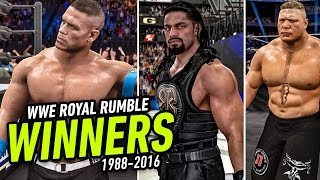 Every WWE Royal Rumble Winner From 1988 - 2016 (WWE 2K15 / WWE 2K16)