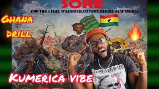Download GHANA DRILL ON 🔥  Yaw Tog - SORE ft O`kenneth, City Boy, Reggie, Jay bahd  * FREEZY REACTION*