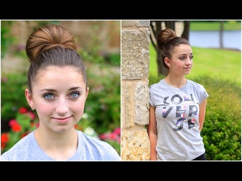 How To Create A Fan Bun Updo Hairstyles Youtube