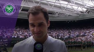 Roger Federer Wimbledon 2017 final winner's interview