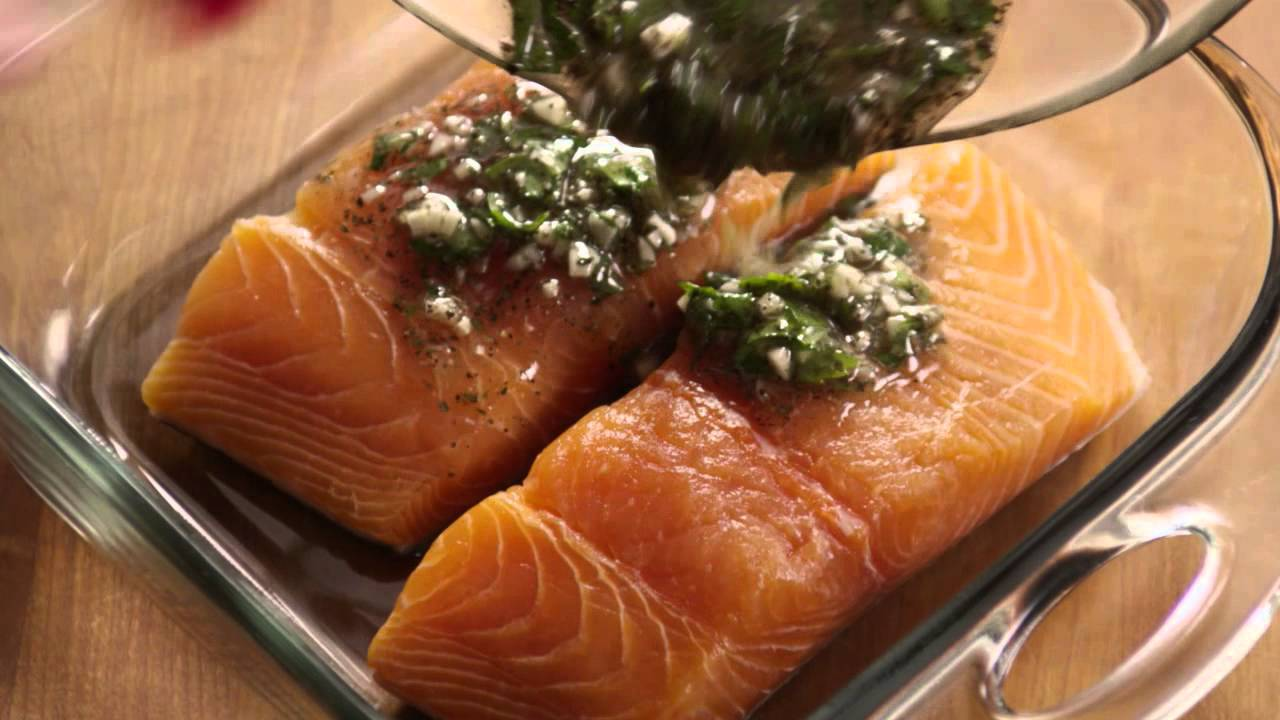 How To Make Baked Salmon Youtube