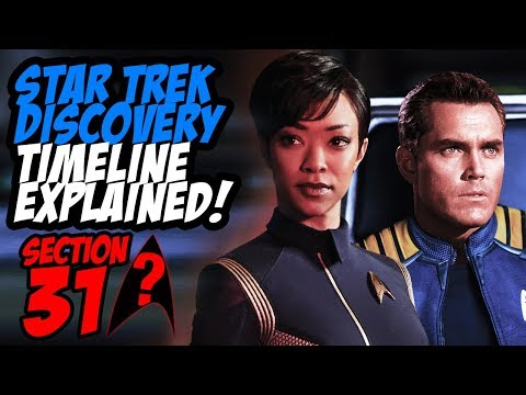 Star Trek Discovery - SECTION 31?  and Timeline Explained!