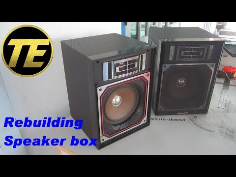 Rebuilding speaker box - Cassette Sharp HK-9000