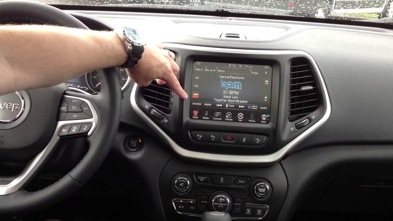 2014 Jeep Cherokee Interior Uconnect Bluetooth And