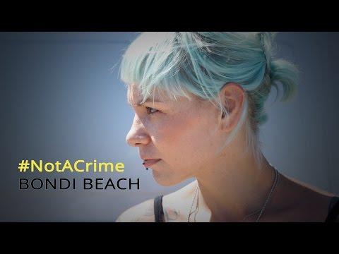 #NotACrime Bondi Beach Street Art Project