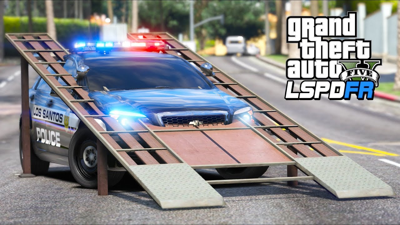 GTA 5 Mods - *NEW* Police RAMP Car!! (LSPDFR Gameplay)