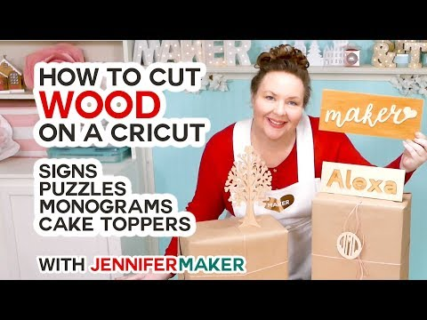 Cut Wood Letters on a Cricut -- Including Name Puzzles!
