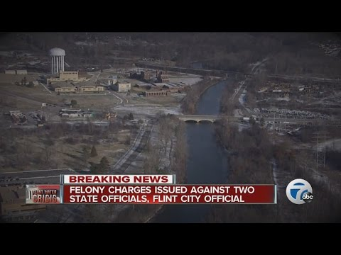 Felony charges filed against two state officials, Flint city official