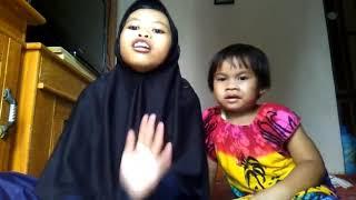 Vidio viral anak kecil nyanyi kaget ada petir. Wkwkw