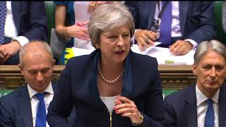The Prime Minister, Theresa May, answered questions from MPs in the...
