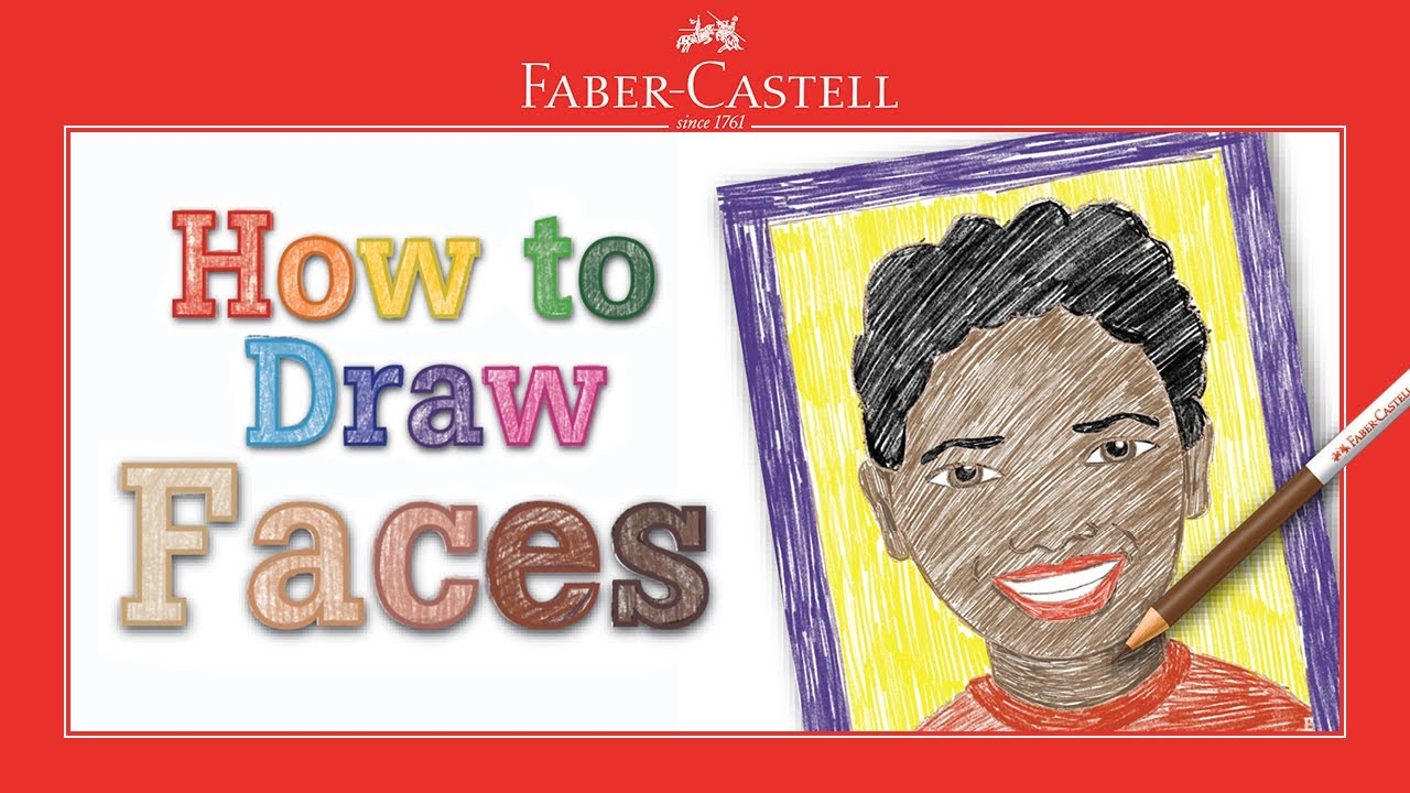 Learn to Draw Portraits for Beginners 40 Piece Skin Tone Coloring Pencils and Paper Art Set Faber-Castell World Colors How to Draw Faces Kit