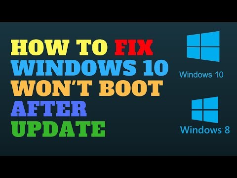 How to Fix Windows 10 Won't Boot After Update