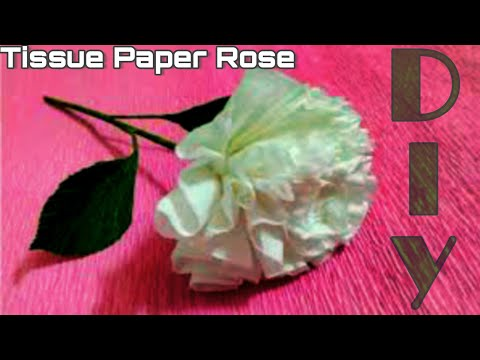 How To Make Rose Flower From Tissue Paper Rose DIY | Best Out of Waste | bebbgviewer