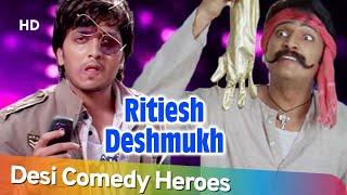 मौत का खेल 🔫| Desi Comedy Heroes of Bollywood - Ritesh Deshmukh | Dhamaal - Masti | Comedy  Scenes