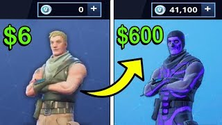 Trading a $6 Fornite Account to a $600 Rare Fornite Account!!
