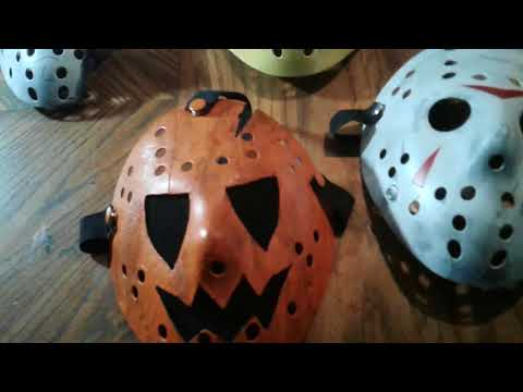 Updated Kane Hodder Mask Collection: Pumpkin Mask: New Evidence Bag!