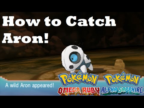 Pokemon omega ruby and alpha sapphire how to find catch aron