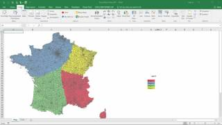 How to build your own regions? - Excel Map France Postcodes (Code Postal)