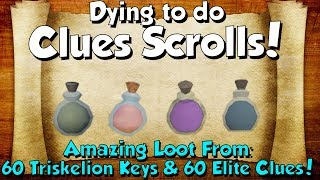 GUESS WHAT I GOT!? Loot From 60 Elite clues & Triskelion Keys [Runescape 3] Dying to do Clues!