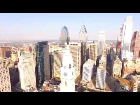 Aerial Drone View of Philadelphia 4K