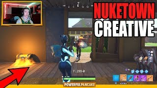 Fortnite NUKETOWN Creative Map!! Free For All Gameplay on NukeTown Fortnite Mini Game!!