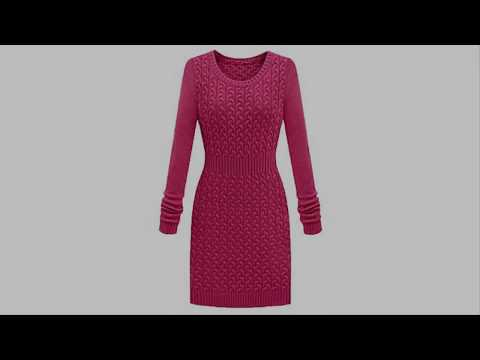 Модели вязания для дам. Платье осень-зима 2018