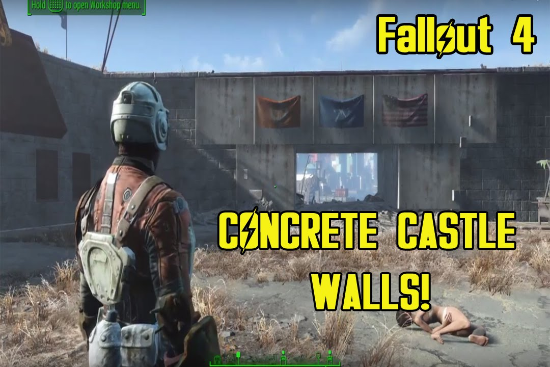 Fallout 4 How To Build The Castle Concrete Walls Youtube