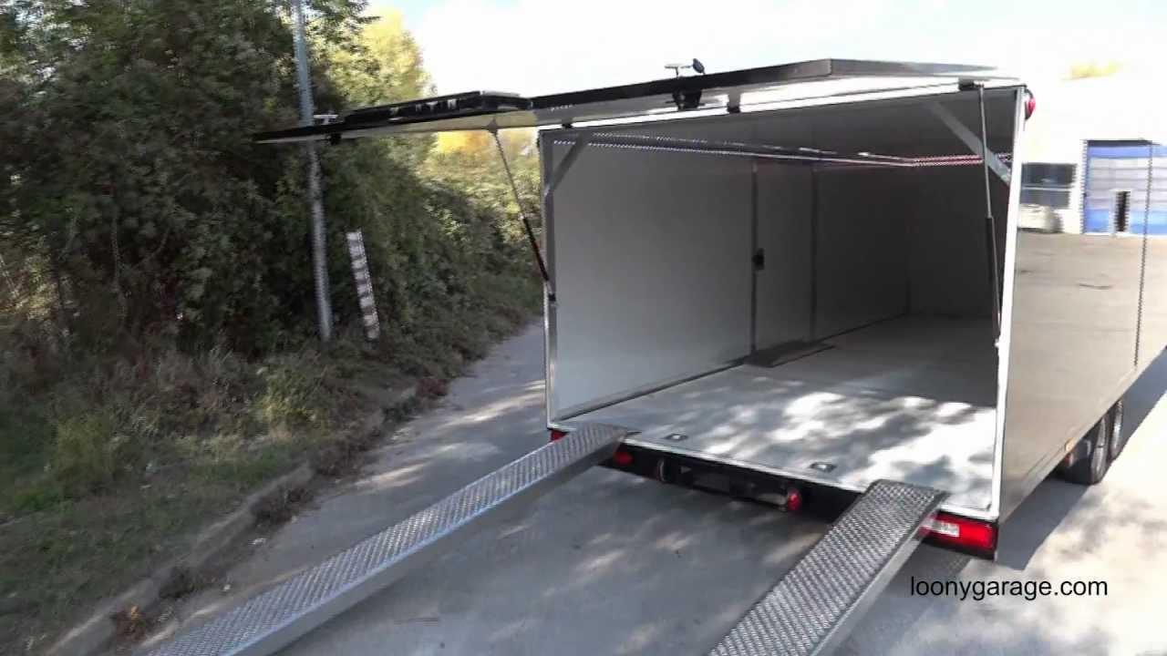 Mobile Trailers Custom Garage : Loony garage s custom car trailer interior youtube