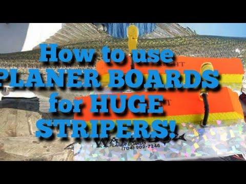 how to use planer boards for stripers
