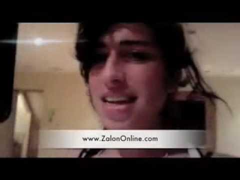 Amy Winehouse Out Raps Kanye West for Zalon (27/09/09)