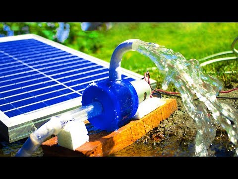 How to Make a Homemade Solar Energy Water Pump