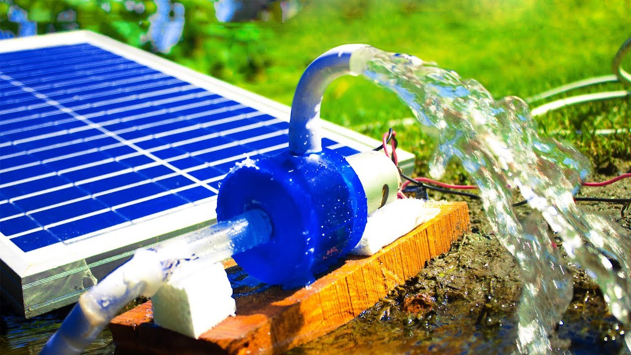 How To Make A Homemade Solar Energy Water Pump Youtube