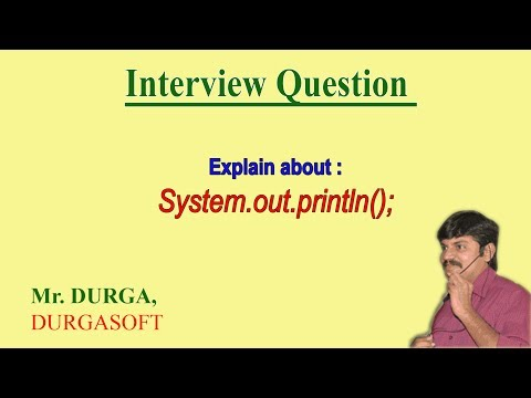 Explain about System.out.println();