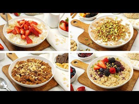 4 Delicious Oatmeal Recipes | Easy Breakfast Ideas