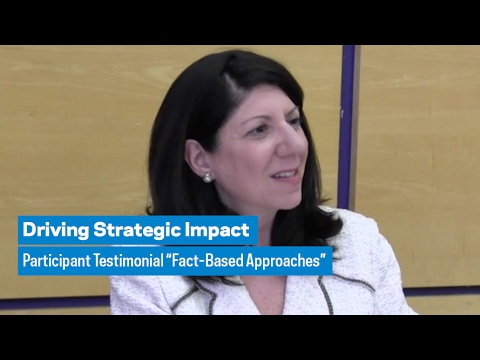 "Driving Strategic Impact: Participant Testimonial ""Fact-Based Approaches"""