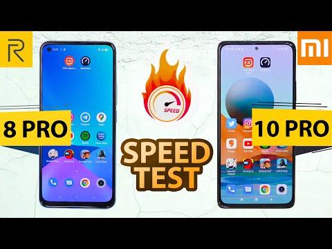 Realme 8 Pro vs Redmi Note 10 Pro/Pro Max Speed Test   SD732G vs 720G🔥