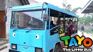 SERUNYA Balita Naik Odong - Odong Bus Tayo, Tayo The Little Bus