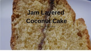Coconut cake Layered With Jam